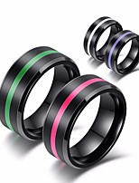 cheap -Men's Classic / Stylish Band Ring - Resin Creative Stylish, Simple, Classic 7 / 8 / 9 Purple / Green / Pink For Daily / Street