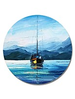 cheap -Oil Painting Hand Painted - Landscape Comtemporary / Modern Canvas