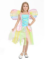 cheap -Princess Costume Girls' Halloween / Carnival / Children's Day Festival / Holiday Halloween Costumes Rainbow Solid Colored / Halloween Halloween