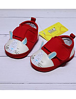 Недорогие -Девочки Обувь Хлопок Весна & осень Удобная обувь / Обувь для малышей На плокой подошве для Красный / Синий / Розовый