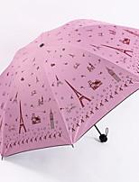 Недорогие -Нержавеющая сталь Все Новый дизайн / Солнечный и дождливой Складные зонты