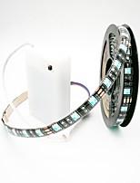 abordables -ZDM® 2m Sets de Luces 60 LED 5050 SMD 1 x interruptor de atenuación RGB Cortable / Impermeable / Decorativa Pilas AA alimentadas 1 juego