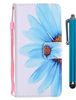economico -Custodia Per Sony Xperia XZ2 Compact / Xperia XZ2 A portafoglio / Porta-carte di credito / Con supporto Integrale Fiore decorativo Resistente pelle sintetica per Xperia XZ2 / Xperia XZ2 Compact