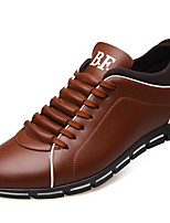 cheap -Men's Faux Leather Fall Comfort Sneakers Brown / Red / Blue