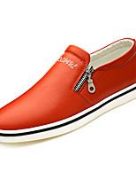 Недорогие -Муж. Лакированная кожа Осень Удобная обувь Мокасины и Свитер Черный / Оранжевый / Синий