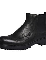 cheap -Men's Combat Boots Nappa Leather Fall & Winter Boots Booties / Ankle Boots Black