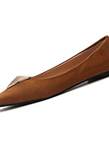 cheap -Women's Shoes PU(Polyurethane) Summer Moccasin Flats Flat Heel Pointed Toe Black / Brown / Pink
