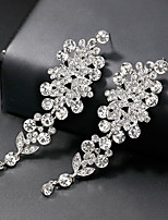 cheap -Women's Long Drop Earrings - Flower European, Fashion Silver For Wedding / Daily