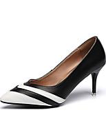 preiswerte -Damen Schuhe PU Sommer Pumps High Heels Stöckelabsatz Spitze Zehe Schwarz / Gelb / Rosa / Party & Festivität