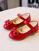 Недорогие -Девочки Обувь Полиуретан Весна Удобная обувь На плокой подошве Шнуровка для Черный / Красный / Розовый