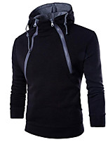 cheap -Men's Active Hoodie - Solid Colored