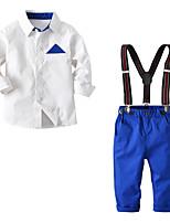Недорогие -Дети / Дети (1-4 лет) Мальчики Однотонный / Контрастных цветов Длинный рукав Набор одежды