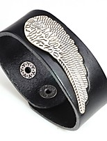 cheap -Men's Stylish Bracelet Bangles - Leather Wings Trendy, Fashion Bracelet Black / Orange / Coffee For Gift / Carnival