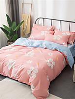 cheap -Duvet Cover Sets Floral Polyster Applique 3 Piece