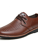 Недорогие -Муж. Полиуретан Осень Удобная обувь Туфли на шнуровке Черный / Желтый / Коричневый