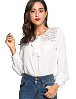 cheap -Women's Blouse - Solid Colored Lace