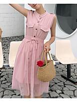 preiswerte -Damen Set - Solide Kleid
