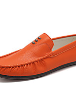 cheap -Men's Moccasin PU(Polyurethane) Fall Loafers & Slip-Ons Black / Orange / Khaki