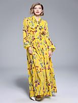 cheap -SHE IN SUN Women's Basic Lantern Sleeve Shift Dress - Geometric Bow / Print