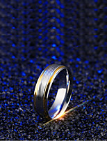 cheap -Men's Double Twine Band Ring - Titanium Steel Wave Simple 7 / 8 / 9 Silver For Daily / Festival