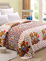cheap -Coral fleece, Pigment Print Cartoon Flannel Toison Blankets