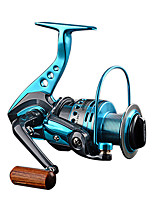 abordables -Moulinet pour pêche Moulinet spinnerbait 5.5:1 Braquet+12 Roulements à billes Orientation à la main Echangeable Pêche en mer / Pêche au leurre