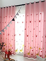 cheap -Kids Curtains Kids Room Geometric / Cartoon Cotton / Polyester Printed