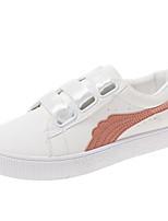 cheap -Women's Shoes PU(Polyurethane) Summer Comfort Sneakers Flat Heel Round Toe White / Green / Pink