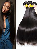 Недорогие -3 Связки Малазийские волосы Прямой человеческие волосы Remy 100% Remy Hair Weave Bundles Головные уборы Человека ткет Волосы Пучок волос 8-28 дюймовый Естественный цвет Ткет человеческих волос
