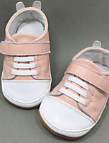 cheap -Girls' Shoes Cowhide Spring / Fall Comfort Sneakers for Gold / Silver / Pink