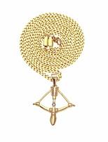 Недорогие -Муж. Классический / Стильные Ожерелья с подвесками - нержавеющий Стиль, модный, Хип-хоп Золотой 63.7 cm Ожерелье 1шт Назначение Подарок, Повседневные