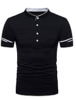 cheap -men's going out polo - solid colored crew neck