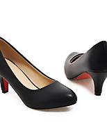preiswerte -Damen Schuhe PU Frühling / Herbst Komfort / Pumps High Heels Stöckelabsatz Weiß / Schwarz / Rot