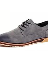 Недорогие -Муж. Полиуретан Осень Удобная обувь Туфли на шнуровке Черный / Серый