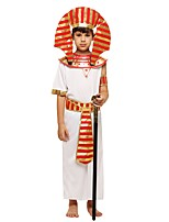 cheap -Pharaoh Costume Boys' Halloween Carnival Children's Day Festival / Holiday Halloween Costumes Outfits White Solid Colored Halloween Halloween