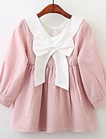 economico -Bambino / Bambino (1-4 anni) Da ragazza A strisce Manica lunga Vestito