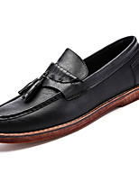 cheap -Men's Cowhide Fall Comfort Loafers & Slip-Ons Black / Brown