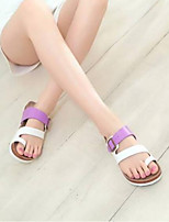 cheap -Women's Shoes PU(Polyurethane) / Synthetics Spring & Summer Comfort Slippers & Flip-Flops Flat Heel Open Toe Purple / Pink