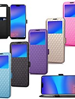 cheap -Case For Huawei P20 Pro / P20 lite Card Holder / with Stand / Flip Full Body Cases Solid Colored Hard PU Leather for Huawei P20 / P10 Plus / P10 Lite