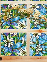 economico -Pellicola per finestre e adesivi Decorazione Florale Fantasia floreale PVC Adesivo per finestre / Sala da bagno