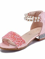 cheap -Girls' Shoes PU(Polyurethane) Summer Comfort / Flower Girl Shoes Sandals for Silver / Pink