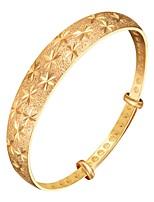 baratos -Mulheres Incompatível Bracelete - Floco de Neve Fashion Pulseiras Dourado / Prata Para Presente / Diário
