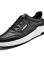 cheap -Men's Faux Leather Spring Comfort Sneakers White / Black / Black / Red