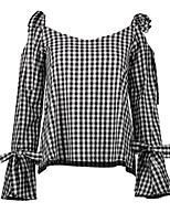 cheap -women's going out shirt - check deep u