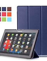 Недорогие -Кейс для Назначение Lenovo Lenovo Tab-X103F со стендом / Магнитный Чехол Однотонный Твердый Кожа PU для Lenovo Tab-X103F