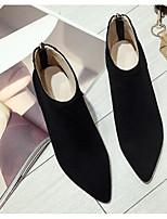 Недорогие -Жен. Обувь Наппа Leather Весна / Лето Удобная обувь / Модная обувь Ботинки На толстом каблуке Черный / Светло-серый / Верблюжий