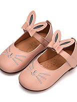 cheap -Girls' Shoes PU(Polyurethane) Spring & Summer Comfort / Flower Girl Shoes Flats Walking Shoes Bowknot / Magic Tape for Teenager Beige / Brown / Pink
