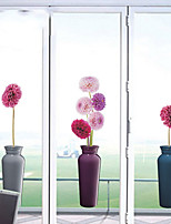 cheap -Window Film & Stickers Decoration Floral Floral PVC(PolyVinyl Chloride) Window Sticker