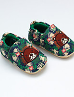 cheap -Boys' / Girls' Shoes Cotton Spring &  Fall First Walkers Loafers & Slip-Ons for Baby Green