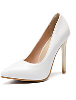 cheap -Women's Shoes PU(Polyurethane) Fall & Winter Basic Pump Wedding Shoes Stiletto Heel Pointed Toe Gold / White / Party & Evening